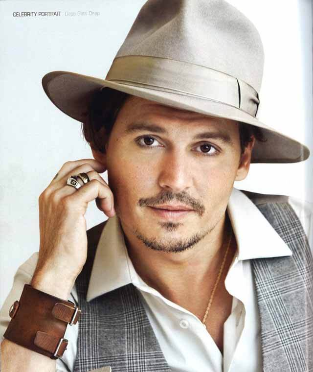 Johnny Depp Fashion Icon - He Knows how to dress - Wearing hat