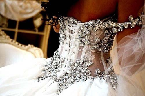 corset - dresses 2012 glitter close up