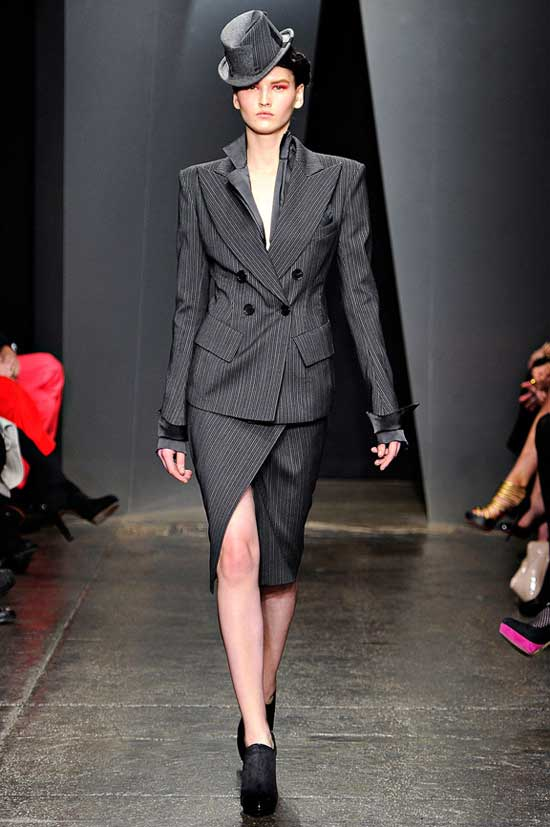 Womens, Pinstripe suit - How To wear This 2012