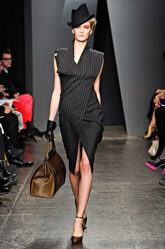 Womens Pinstripe Suit How To Wear This 2012