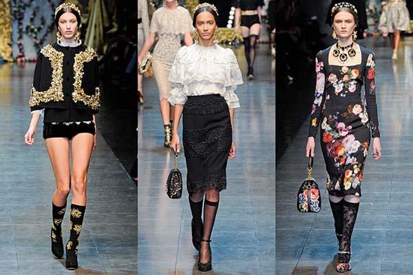 Dolce & Gabbana – Opulent Womens Lace Fashion 2013