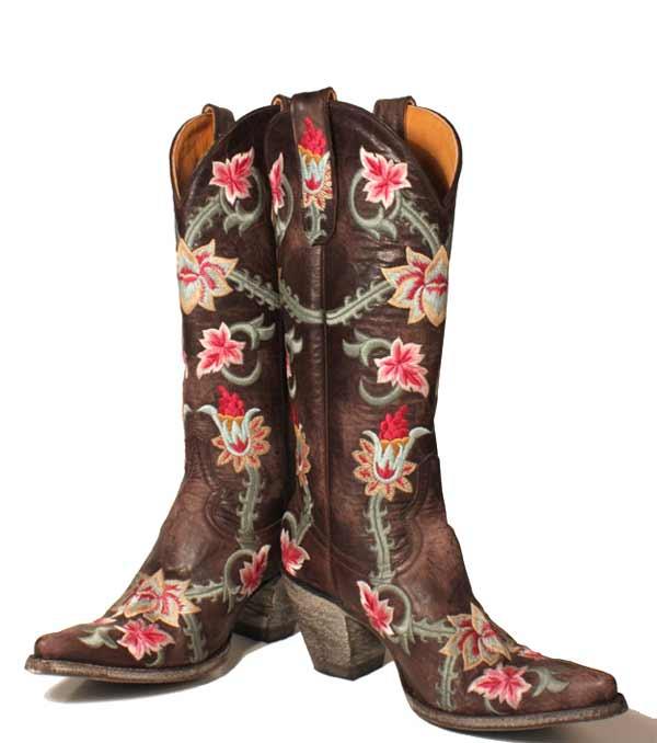 Flower-power,cowboy-boots,R.Soles