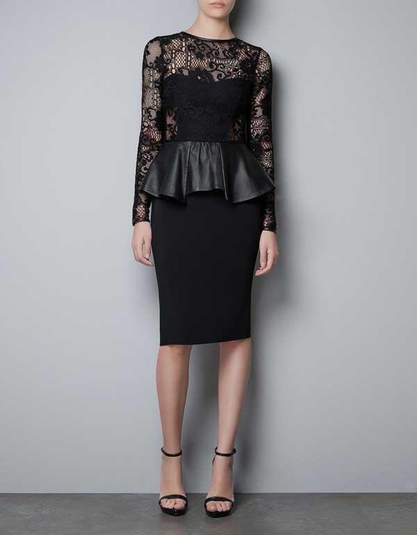 zara-2012,-black-audrey-hepburn-dress,-leather-trimmings