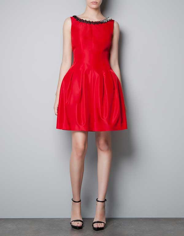 zara-2012,red-pleated-dress-audrey-hepburn-2012