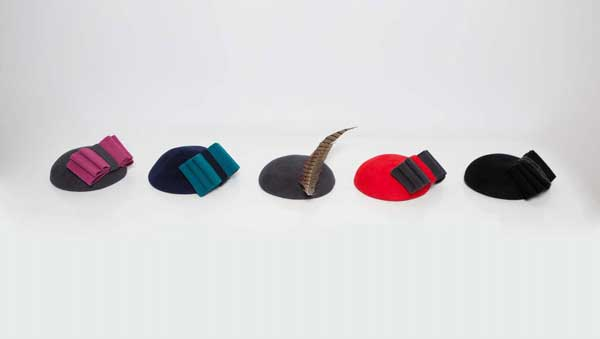 Robyn Coles Millinery Winter Berets 2 bow ties