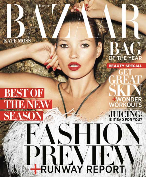 Kate Moss for USA BAZAAR