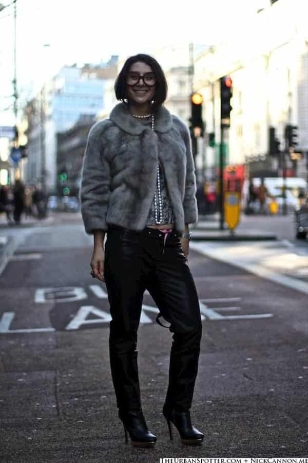 gracie opulanza, London Collections men wearing leather trousers