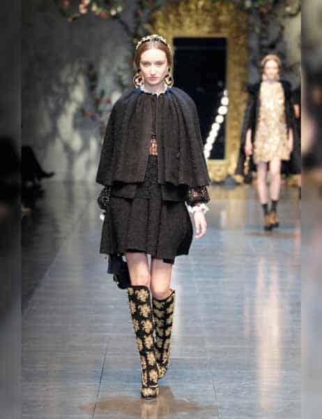 Dolce & Gabbana - Opulent Womens Lace Fashion 2013 (10)