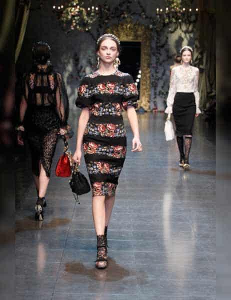 Dolce & Gabbana - Opulent Womens Lace Fashion 2013 (15)