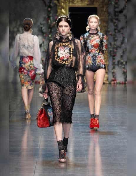 Dolce & Gabbana - Opulent Womens Lace Fashion 2013 (17)