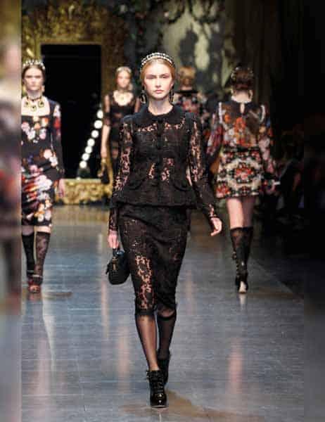 Dolce & Gabbana - Opulent Womens Lace Fashion 2013 (4)