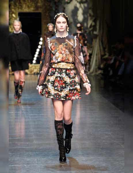 Dolce & Gabbana - Opulent Womens Lace Fashion 2013 (6)