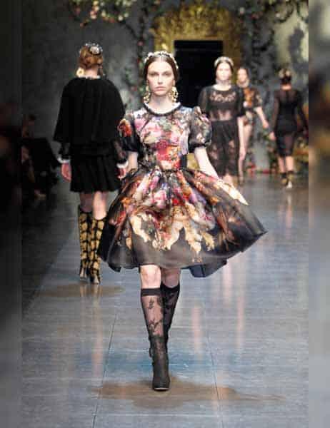 Dolce & Gabbana - Opulent Womens Lace Fashion 2013 (9)