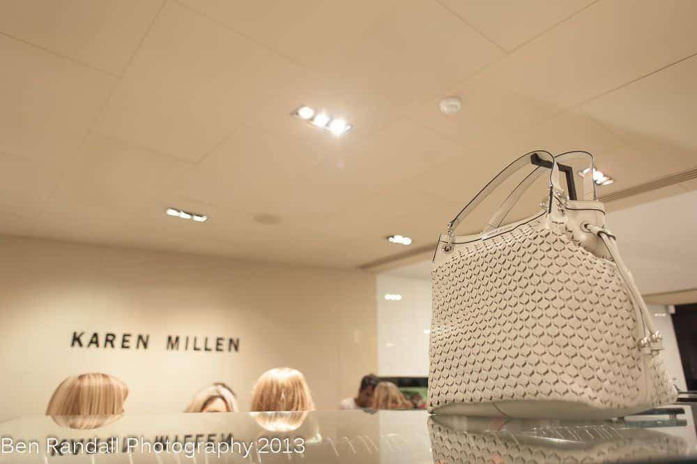 Karen Millen - white leather handbag 2013