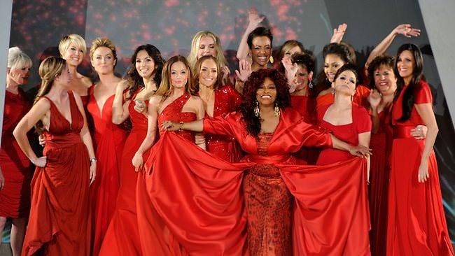 Women wearing red dresses daily telegrpah
