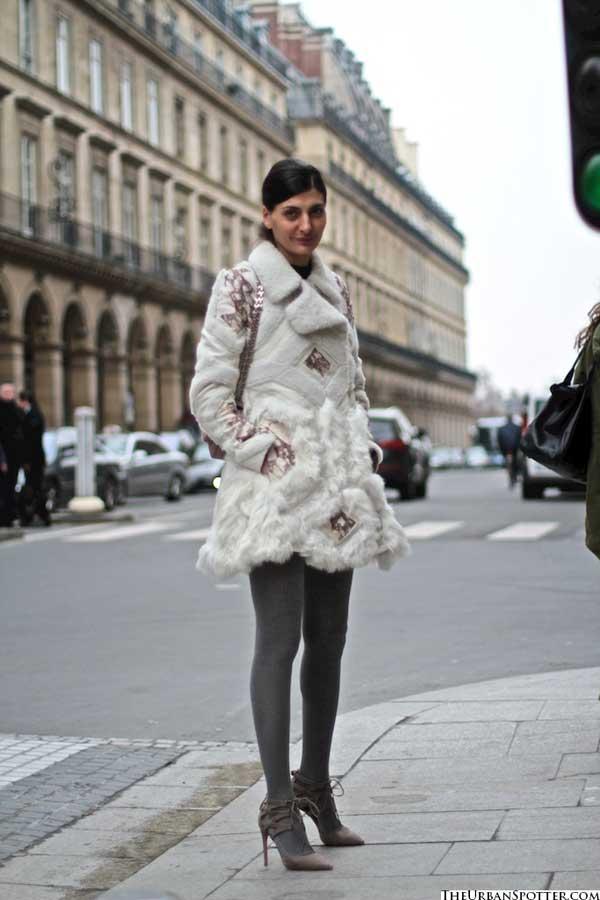 white fur jacket 2013