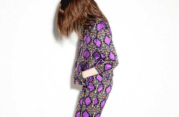Bimba and Lola - purple patterns suits for women 2013
