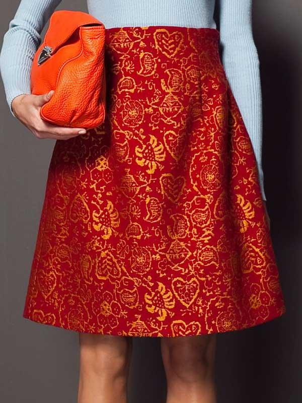 Bimba and Lola red Asian skirt 2013