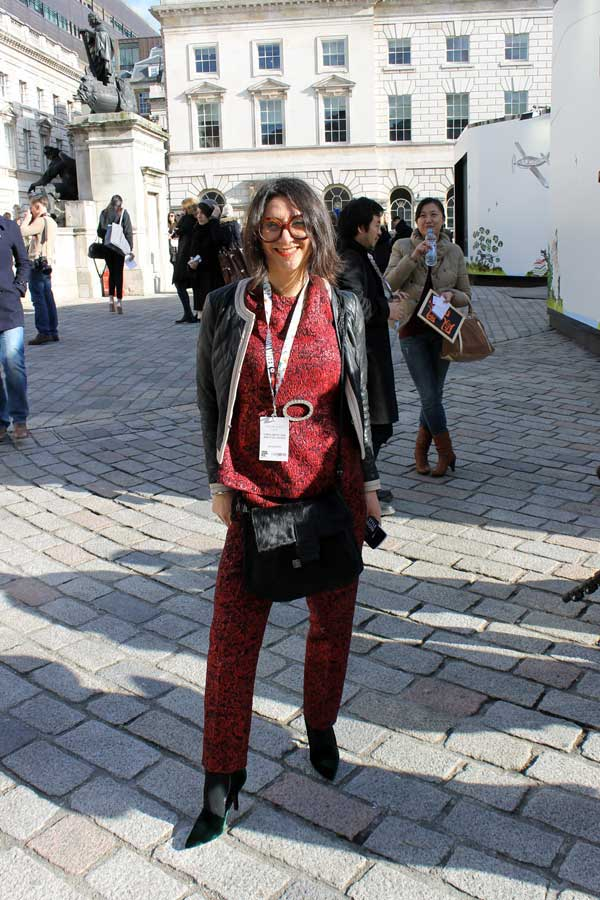 Gracie Opulanza - wearing - Bimba and Lola - red suit for 2013