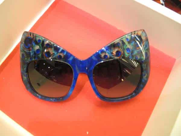 Optica Toscana Eyewear Barcelona peacock frames