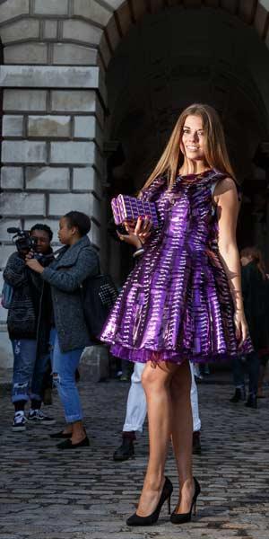 Cadbury chocolate wrappers - London Fashion Week