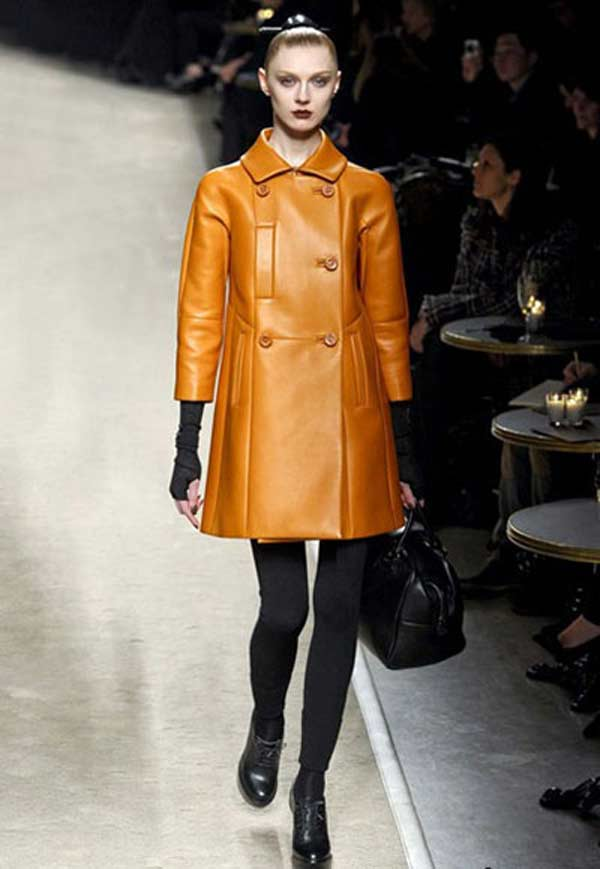 LOEWE Madrid - Leather lace dress & Coat