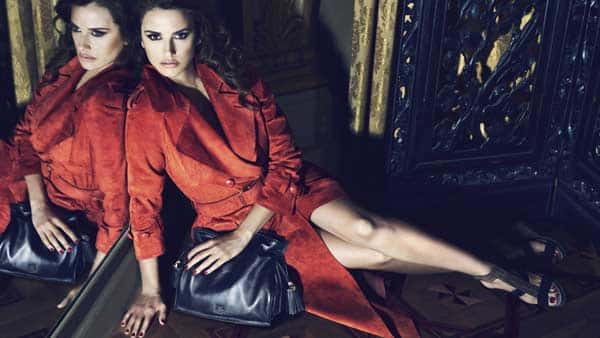LOEWE Madrid - Leather lace dress & Coat Penelope Cruz