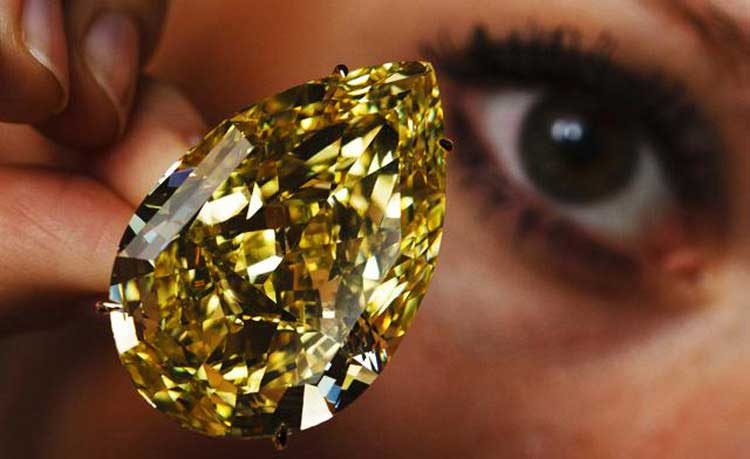 Large Yellow Diamond