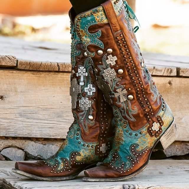 Fantastic Vintage Texas Cowboy Boots Womens 7 M B Tan By Vintagecowboyboots