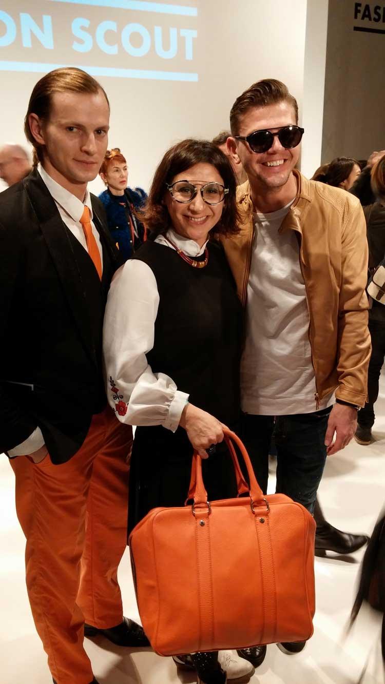 Gracie Opulanza London Fashion Wek 2015 Orange