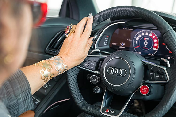 NKB London gold plated bracelets Audi V10 R8 Gracie Opulanza
