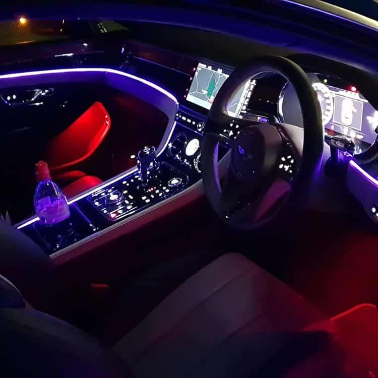 Mood lighting Bentley GT Continental