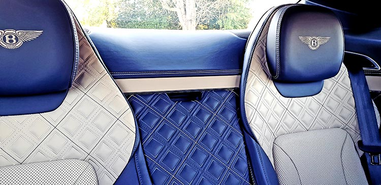 Leather knee high boots Bentley GT 2018 Interior Leather Hide